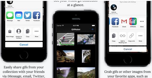 GIF tabanlı yeni iOS uygulaması: Gif Wallet