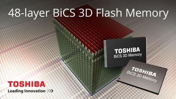 Toshiba ve SanDisk ilk 256Gb kapasiteli BiCS FLASH NAND belleklerini duyurdu