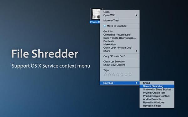 Mac uyumlu güvenlik uygulaması File Shredder ücretsiz yapıldı