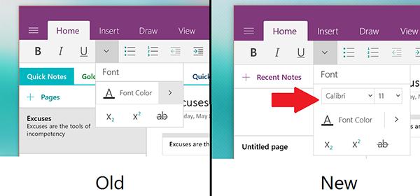 Window 10 için Microsoft OneNote güncellendi