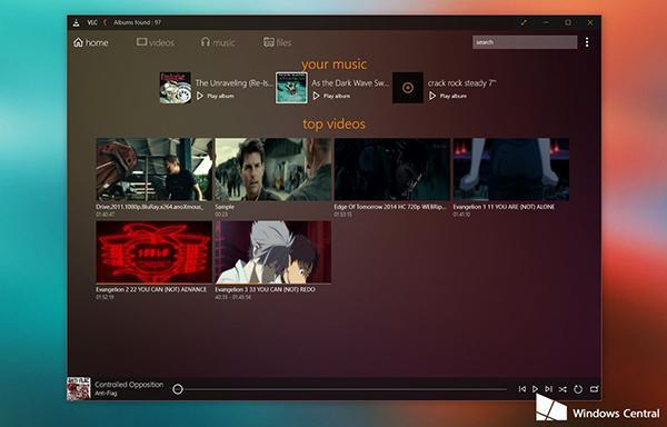 VLC, Windows 10 desteği ve yenilenmiş arayüzle güncellendi