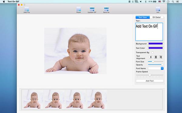 Mac uyumlu uyumlu Text On Gif ücretsiz yapıldı