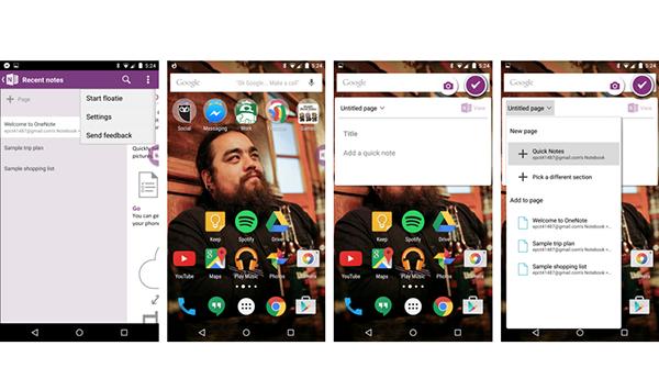 Android için OneNote güncellendi, not alma kolaylaştı