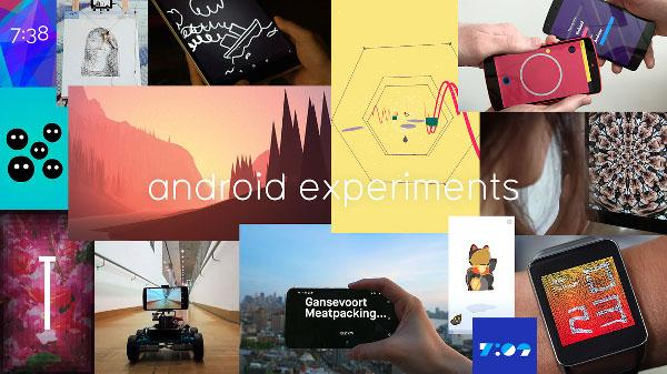 Android Experiments ile 19 ilginç Android projesi birarada