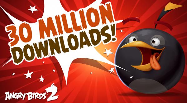 Angry Birds 2, 30 milyon indirme rakamını geçti