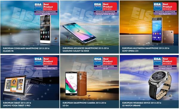 EISA mobil cihaz ödülleri açıklandı, Huawei P8 en iyi ürün ödülüne layık görüldü
