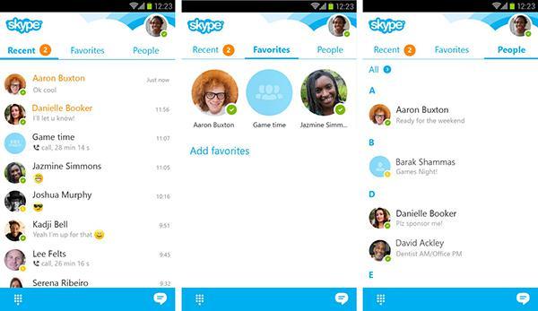 Skype'ın Android uygulaması güncellendi, özelleştirilebilir zil sesleri geldi
