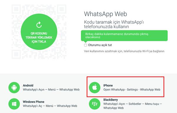 WhatsApp Web artık