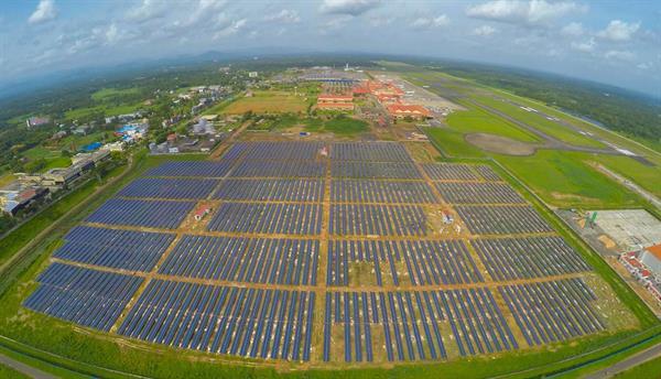 Hindistan dünyanın güneş enerjisiyle çalışan ilk havaalanını için hazırlıkları tamamladı