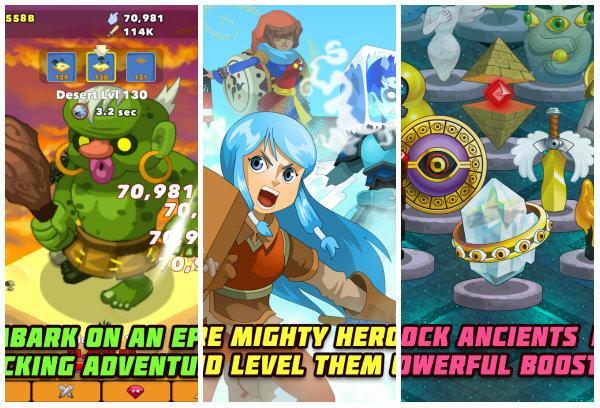 Clicker Heroes gerçekten mobil platformda