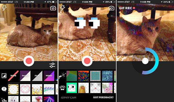 GIF odaklı yeni iOS uygulaması: Giphy Cam