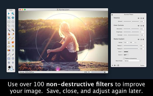 Mac platformuna yeni gelişmiş fotoğraf editörü: Acorn 5