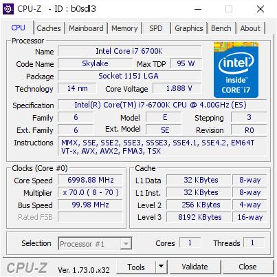 Intel Core i7-6700K işlemcisi 7GHz seviyesine hız aşırtıldı