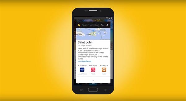 Bing Android uygulaması artık ekrandaki içerikle ilgili hızlı arama yapabiliyor
