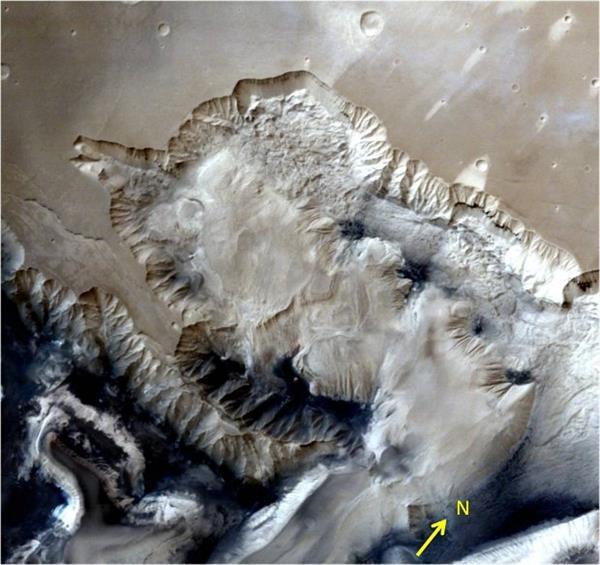 Hindistan'ın uzay aracı Mars'taki kanyon bölgesini görüntüledi