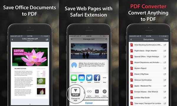 iOS uyumlu PDF Converter %70 indirimde