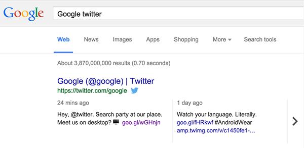 Google, masaüstü arama sonuçlarına