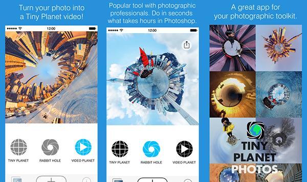 iOS uyumlu Tiny Planet kısa bir süre için ücretsiz