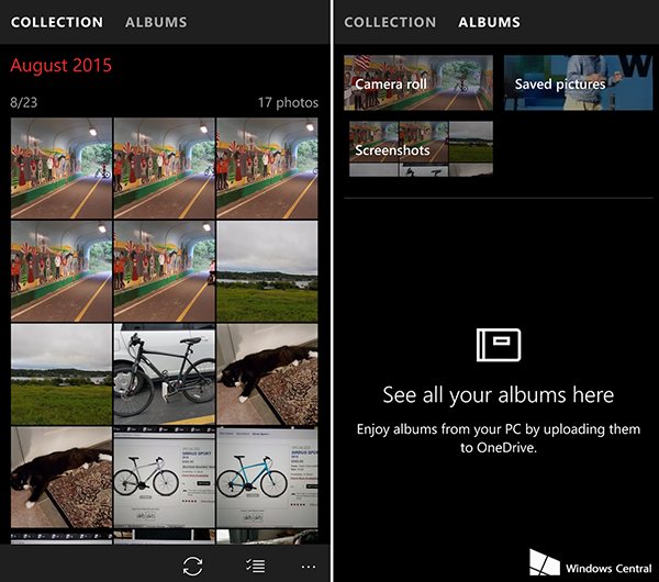 Windows Camera ve Microsoft Photos, Windows 10 masaüstü ile mobil için güncellendi