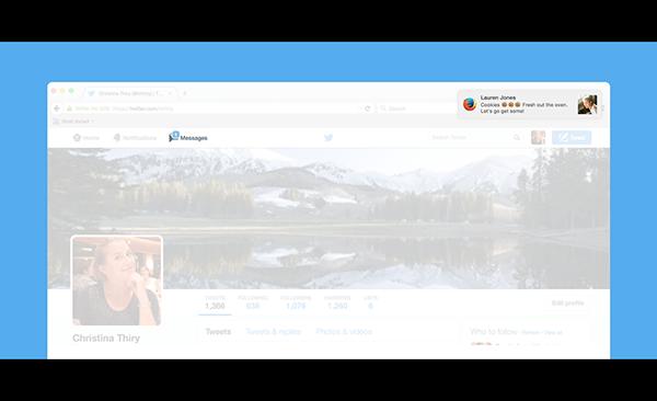 Twitter, web sürümünde direkt mesaj bildirimleri vermeye başladı