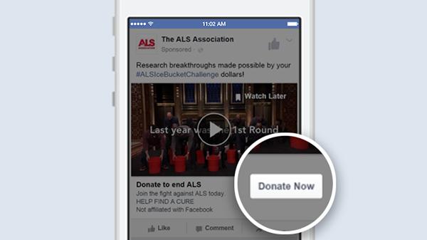 Facebook'da bağış sistemi devreye geçti