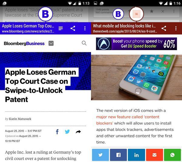 Android uyumlu Link Bubble güncellendi, tamamen ücretsiz yapıldı
