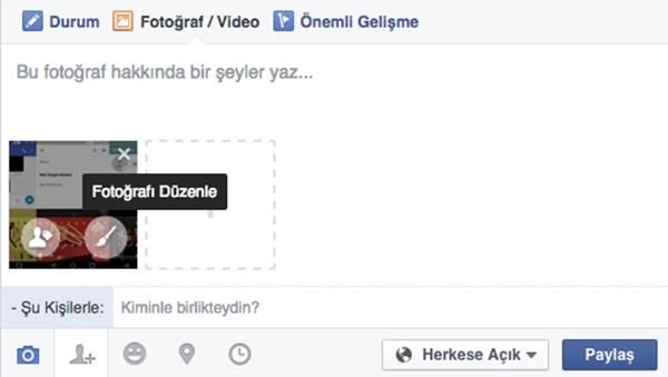 Facebook, web sürümüne fotoğraf düzenleme desteği getirdi