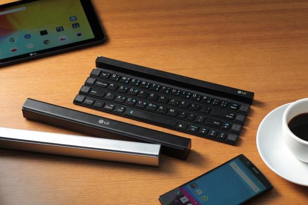LG Rolly mobil cihazlara yönelik ilk rulolanabilir kablosuz klavye oldu