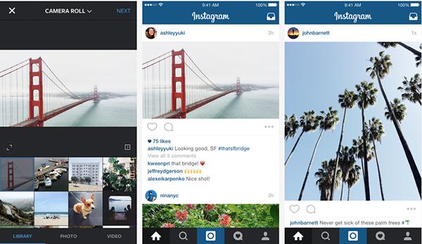 Instagram'da sadece kare fotoğraf devri bitti