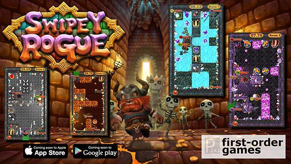 Swipey Rogue, Appstore ve Google Play'deki yerini aldı