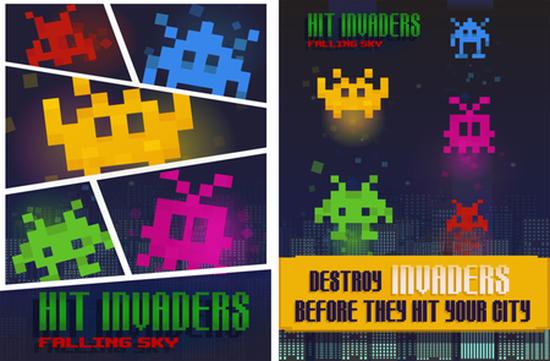 Bulkypix yeni oyunu Hit the Invaders'ı indirmeye sundu
