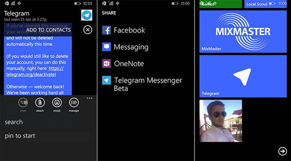 Güvenlik odaklı mesajlaşma uygulaması Telegram, Windows Phone tarafında güncellendi
