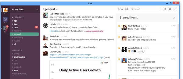 Takım odaklı mesajlaşma servisi Slack, Window 10'a özel yeni bir destek kazandı