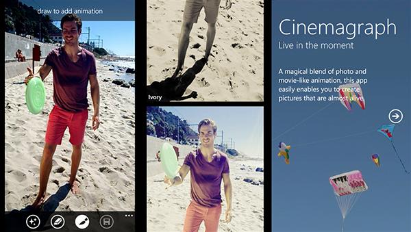 GIF animasyonlar için hazırlanan Lumia Cinemagraph uygulaması Windows 10 desteği aldı