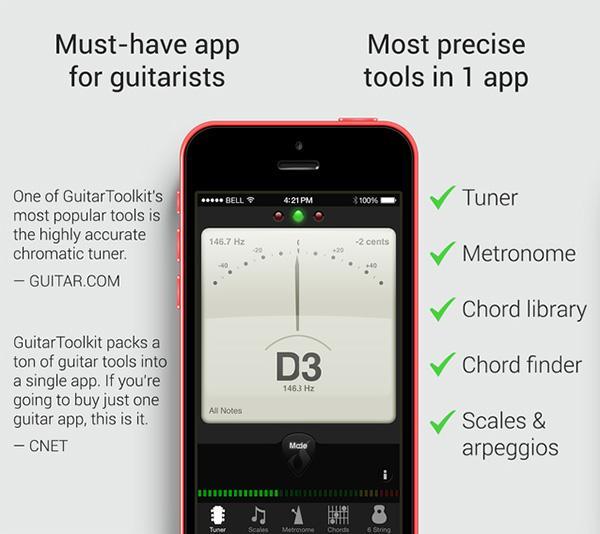 iOS uyumlu GuitarToolkit ücretsiz yapıldı