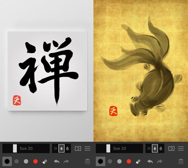 Çizim odaklı yeni iOS uygulaması: Zen Brush 2