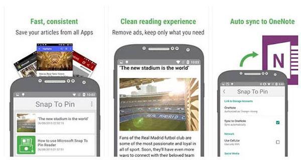 Microsoft, Android için Snap To Pin uygulamasını yayınladı