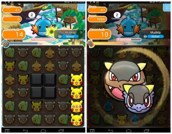 Pokemon Shuffle Mobile oyunu Android'e geldi