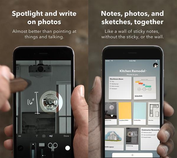 FiftyThree'nin Paper uygulaması iPhone için de yayınlandı