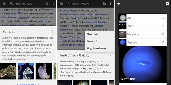 Android için Wikipedia güncellendi