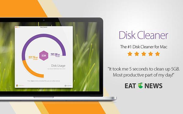 Mac uyumlu yeni uygulamalardan Disk Cleaner, kısa bir süre için ücretsiz