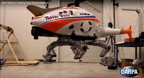 DARPA, helikopterler için geliştirdiği devrimsel iniş takımını test etti