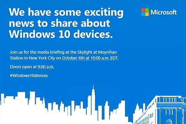 Microsoft, 6 Ekim'de etkinlik düzenliyor