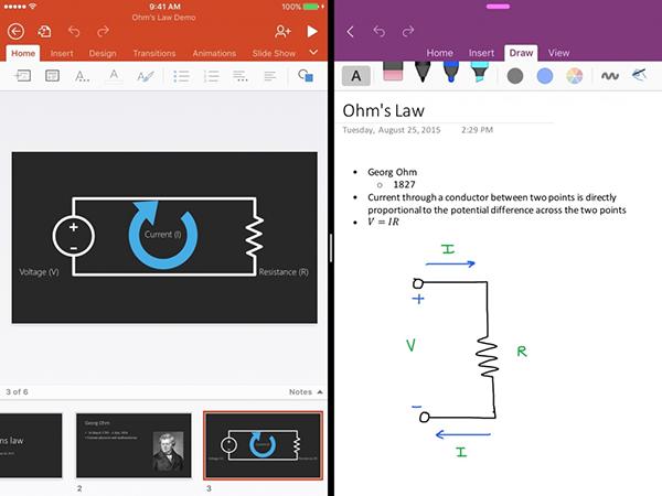 Microsoft  OneNote, iOS 9 desteğiyle güncellendi