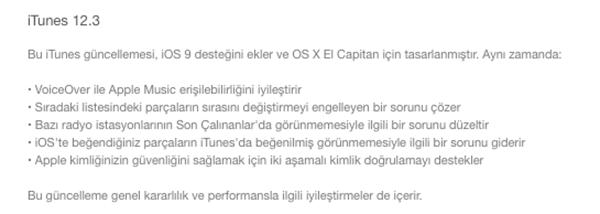 iTunes 12.3 kullanıma sunuldu
