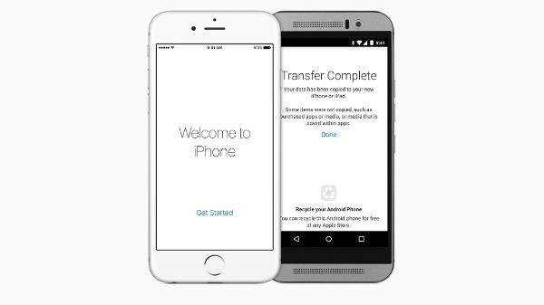 Apple ilk kez Google Play mağazasında boy gösteriyor : Move to iOS