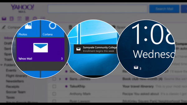 Windows 10 için Yahoo Mail geldi