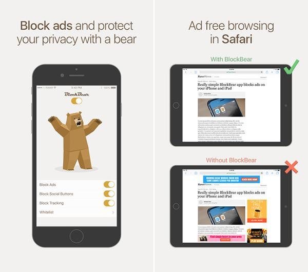 Çizgisiyle fark yaratan yeni reklam engelleme uygulaması: BlockBear