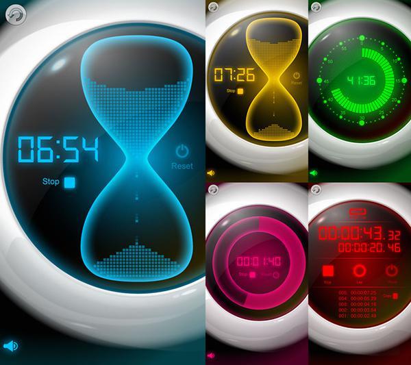 Fütüristik tasarımlı zaman uygulaması Best Timer, 3 gün için ücretsiz yapıldı
