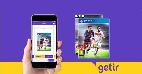 Getir uygulaması bu kez Fifa 2016 teslimatında